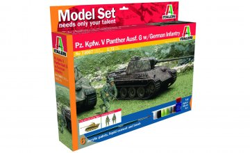 Pz.Kpfw. V Panther Ausf. with German Infantry · IT 73007 ·  Italeri · 1:72