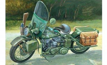 WLA 750 US Military Motorcycles · IT 7401 ·  Italeri · 1:9