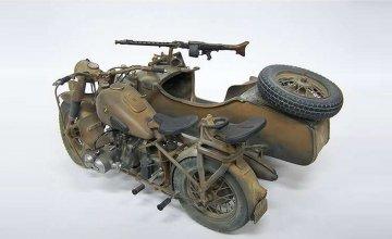 BMW R75 German Milit.Motor.w/Sidecar · IT 7403 ·  Italeri · 1:9