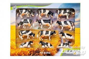 Kühe Set 12 Stück für Siku · KGCL 0587 ·  KidsGlobe Country Life · 1:32