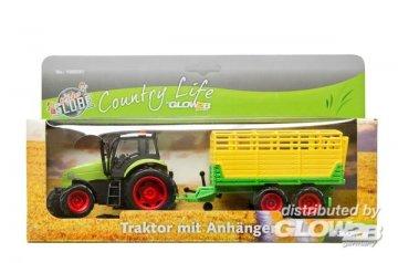Traktor mit Anhänger und Licht und Sound · KGCL 0591 ·  KidsGlobe Country Life