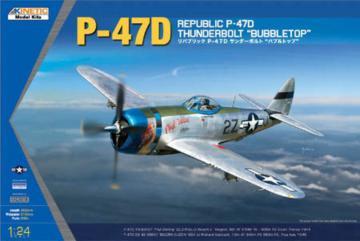 P-47D Thunderbolt Bubble Top · KIN K3207 ·  Kinetic Model Kits · 1:24