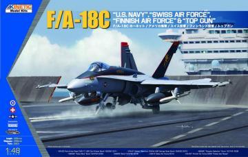 F/A-18C US Navy, Swiss AirForce, Finnish A AirForce & Topgun · KIN K48031 ·  Kinetic Model Kits · 1:48