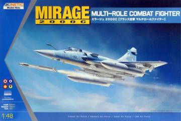 Mirage 2000C Multi-role Combat Fighter · KIN K48042 ·  Kinetic Model Kits · 1:48