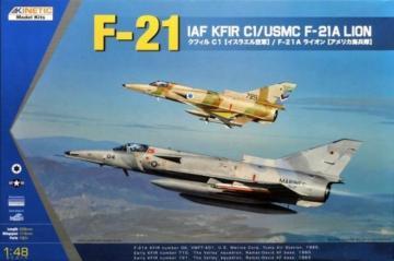 F-21/KFIR C1 · KIN K48053 ·  Kinetic Model Kits · 1:48