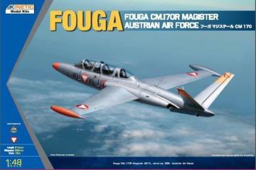 Fouga Magister CM 170  Austria · KIN K48059 ·  Kinetic Model Kits · 1:48