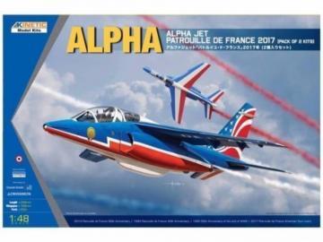 Alpha Jet - Patrouille de 2017 2-in-1 kit · KIN K48064 ·  Kinetic Model Kits · 1:48