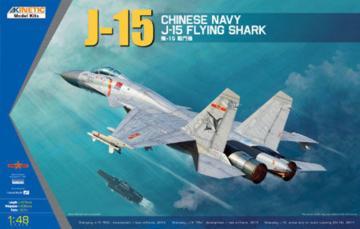 J-15 Chinese Naval Fighter · KIN K48065 ·  Kinetic Model Kits · 1:48