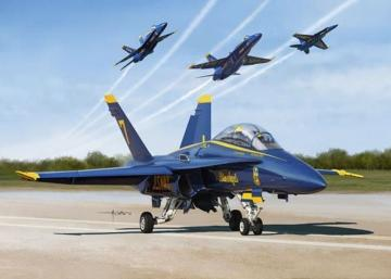 USN BLUE ANGLE 2017 F/A-18A/B/C/D · KIN K48073 ·  Kinetic Model Kits · 1:48