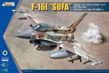 Israel F-16I SUFA with IDF weapons · KIN K48085 ·  Kinetic Model Kits · 1:48