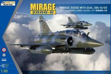 Mirage 2000 B/D/N w/ LGB · KIN K48120 ·  Kinetic Model Kits · 1:48
