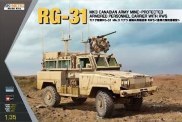 RG-31 MK3 Canada Army W/Crows · KIN K61010 ·  Kinetic Model Kits · 1:35