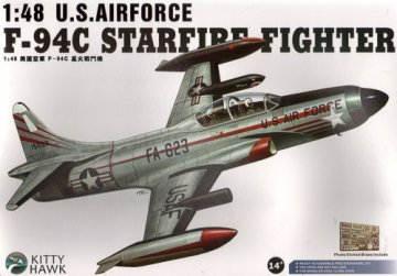 F-94C Starfire Fighter U.S.Airforce · KH 80101 ·  Kitty Hawk · 1:48