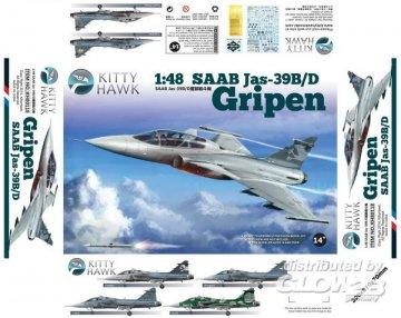 JAS 39B7D Gripen · KH 80118 ·  Kitty Hawk · 1:48