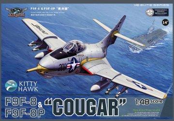 F9F-8 / F9F-8P Cougar (2 in 1) · KH 80127 ·  Kitty Hawk · 1:48