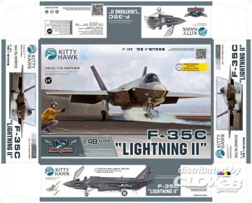F-35C Lightning II · KH 80132 ·  Kitty Hawk · 1:48