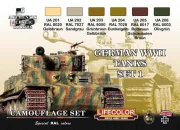 German vehicle WWII set n.1 · LIFE CS01 ·  Lifecolor