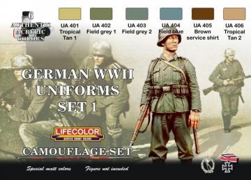 German military uniforms WWII set n.1 · LIFE CS04 ·  Lifecolor