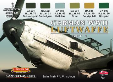 German Luftwaffe set 1 · LIFE CS06 ·  Lifecolor