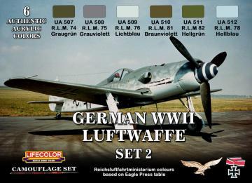 German Luftwaffe set 2 · LIFE CS07 ·  Lifecolor