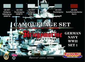 German WWII Kriegsmarine n.1 Camoufl.set · LIFE CS09 ·  Lifecolor