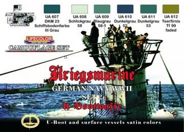 German WWII Kriegsmarine n.2 Camoufl.set · LIFE CS12 ·  Lifecolor