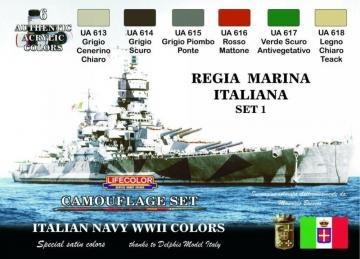 Italian Regia Marina WWII colors · LIFE CS15 ·  Lifecolor
