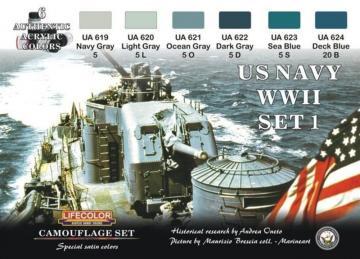 Camouflage Set US Navy WWII Set 1 · LIFE CS24 ·  Lifecolor
