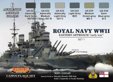Royal Navy WWII Eastern Approach early war Set 1 Camouflage Set · LIFE CS33 ·  Lifecolor