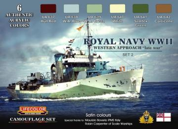Royal Navy WWII Western Approach late war Set 2 Camouflage Set · LIFE CS34 ·  Lifecolor