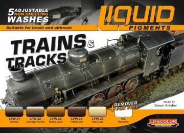 Liquid Pigments - Trains & Tracks · LIFE LP05 ·  Lifecolor