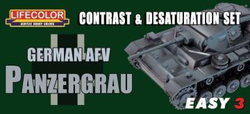 Germ.AFV Panzergrau Contr.&Desaturat.Set · LIFE MS02 ·  Lifecolor