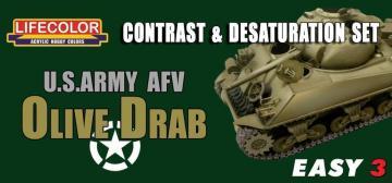 US Army AFV Oliv Drab Contr.&Desaturat. · LIFE MS03 ·  Lifecolor