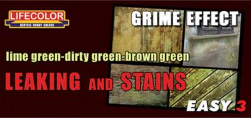 Leaking and stains lime-dirty-brown green · LIFE MS11 ·  Lifecolor