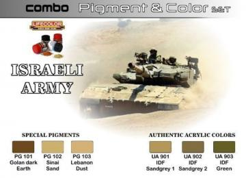 Pigment&Color Set Israeli Army · LIFE SPG01 ·  Lifecolor
