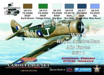 Australian Air Force WWII (RAAF) Set 1 · LIFE XS01 ·  Lifecolor
