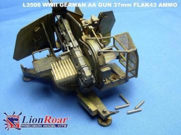 Ammo & Cartridge case for 37mm Flak 43 · LIO L3506 ·  Lion Roar · 1:35