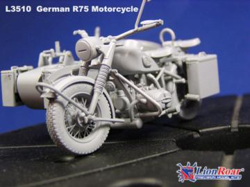 WWII German BMW R75 with Sidecar /w trailers · LIO L3510 ·  Lion Roar · 1:35