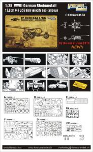 WWII German Rheinmetall 12,8cm K44 L/55 High Velocity Anti-Tank Gun · LIO L3523 ·  Lion Roar · 1:35
