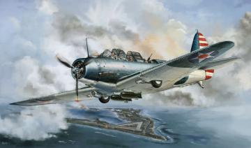 WWII Douglas TBD-1 Devastator-VT-6 1942 · LIO L4809 ·  Lion Roar · 1:48