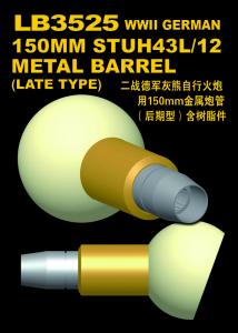 StuH43 150mm L/12 for Brummbar (Late type/w resin parts) · LIO LB3525 ·  Lion Roar · 1:35