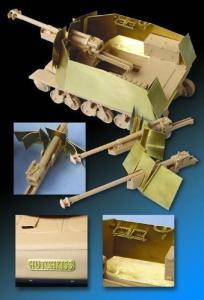 Armour/parts for 39(H)105mm LeFH18/ Panzerjaeger 39(H) for Trumpeter · LIO LE35053 ·  Lion Roar · 1:35