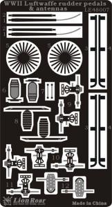 WWII Luftwaffe Rudder Pedals & Antennas · LIO LE48007 ·  Lion Roar · 1:48