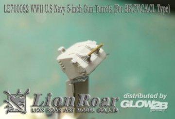 WWII U.S Navy 5inch Twin Mount For BB/CV/CA/CL Type · LIO LE700082 ·  Lion Roar · 1:700