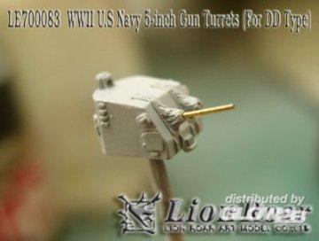 WWII U.S Navy 5inch Twin Mount For DD Type · LIO LE700083 ·  Lion Roar · 1:700