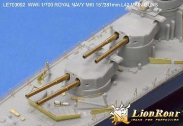 WWII HMS MK I 15´´/381mm L42 metal Barrels for Hood/Renown Class/ R class · LIO LE700092 ·  Lion Roar · 1:700
