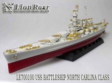 WWII U.S Navy Battleship BB-55 North Carolina for Trumpeter · LIO LE700100 ·  Lion Roar · 1:700