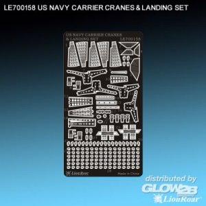 WWII US Navy Aircraft Carrier Cranes&Lan · LIO LE700158 ·  Lion Roar · 1:700
