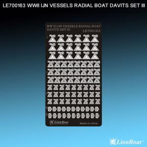 WWII IJN Vessels Radial Boat Davits Set3 · LIO LE700163 ·  Lion Roar · 1:700