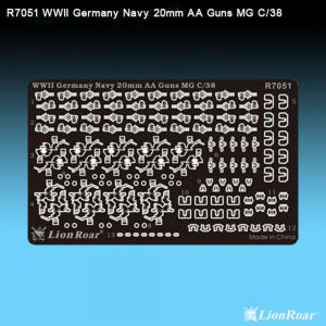 WWII Ger.Navy20mm AA GunFlak35(4*MG C/38 · LIO R7051 ·  Lion Roar · 1:700